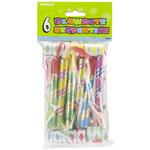 Assorted Colors - Party Blowouts 6/Pkg