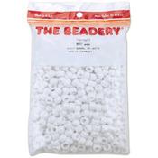 Opaque White - Pony Beads 6x9mm 900/Pkg