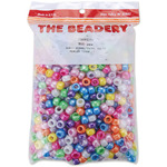 Pearl Multicolor - Pony Beads 6x9mm 900/Pkg