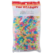 Glow Multicolor - Pony Beads 6x9mm 900/Pkg