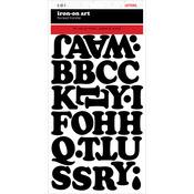 "Black - Chunky Letter Transfers 1.5"" 2 Sheets/Pkg"