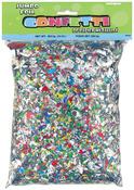 Multicolor - Jumbo Foil Confetti 10oz/Pkg
