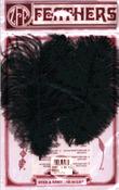 Black - Ostrich Feathers 2/Pkg