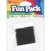 Black - Fun Pack Stretch Cord 4yd/Pkg