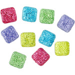 #15 Multicolored Squares 10/Pkg - Dress It Up Galaxy Style Embellishments