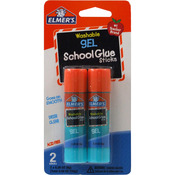 Elmer's Washable School Glue Gel Sticks 2/Pkg