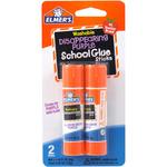 Elmer's Washable School Glue Stick - Purple 2/Pkg