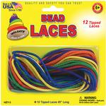 """Assorted Colors - Bead Laces 45"""" 12/Pkg"""