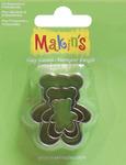 Teddy Bear - Makin's Clay Cutters 3/Pkg