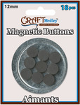12mm 18/Pkg - Magnetic Buttons On Mirror