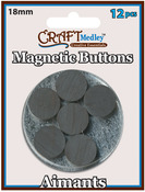 18mm 12/Pkg - Magnetic Buttons On Mirror