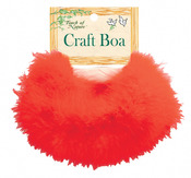 Red - Marabou Feather Boa 36""