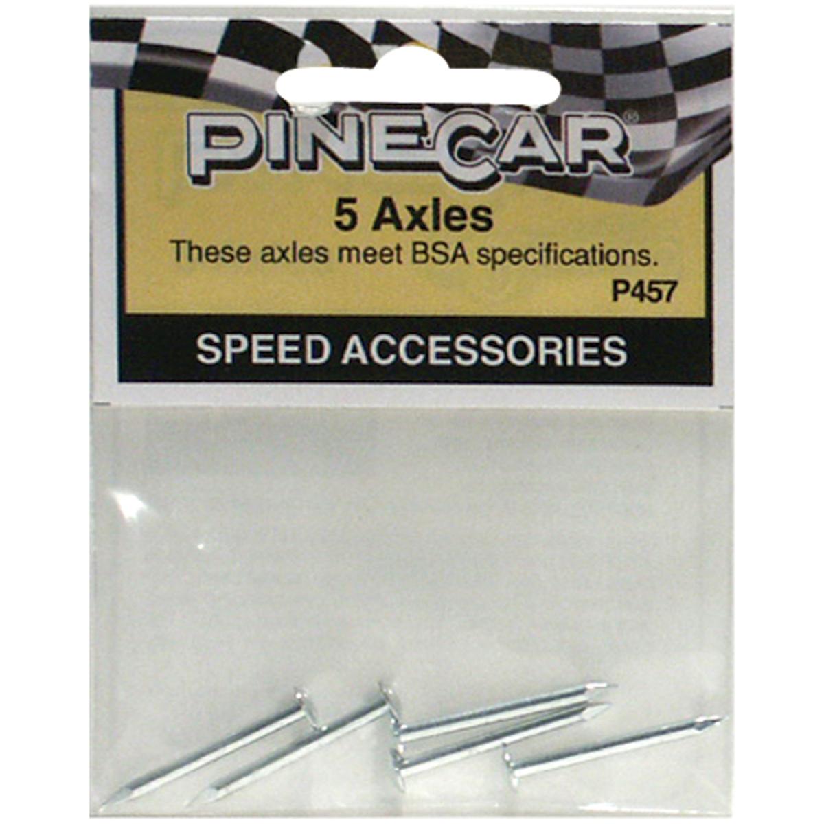 Axles 5/Pkg - Pine Car Derby Speed Accessories