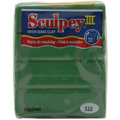 Leaf Green - Sculpey III Polymer Clay 2oz
