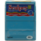 Turquoise - Sculpey III Polymer Clay 2oz