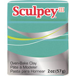 Teal Pearl - Sculpey III Polymer Clay 2oz