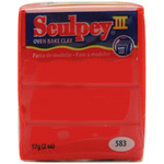 Red Hot Red - Sculpey III Polymer Clay 2oz