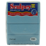 Light Blue Pearl - Sculpey III Polymer Clay 2oz