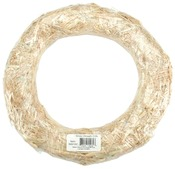 Natural - Straw Wreath 8""