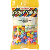 Circus Multi - Large Barrel Beads 11x8mm 200/Pkg THE BEADERY-Super Value Pony Beads: 11x8mm Large Barrel Beads. Beautiful beads in a multitude of colors.  Whether you plan on using them for hair, jewelry, adornments on clothing, lamp shades or curtains they will surely brighten up your world. Approximately 200 pieces per package. Available in a variety of color combinations: each sold separately. Recommended for children ages 6 and up. WARNING: Choking Hazard-small parts. Not for children under 3 years. Imported.