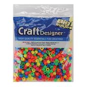 Neon Multicolor - Pony Beads 6x9mm 720/Pkg