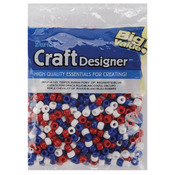 Red, White & Blue - Pony Beads 6x9mm 720/Pkg
