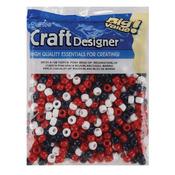 USA Red, White & Blue - Pony Beads 6x9mm 720/Pkg