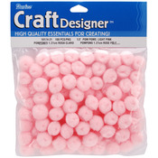 "Light Pink - Pom-Poms .5"" 100/Pkg"