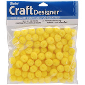 "Yellow - Pom-Poms .5"" 100/Pkg"