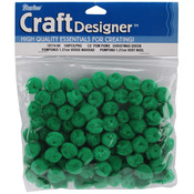 "Kelly Green - Pom-Poms .5"" 100/Pkg"