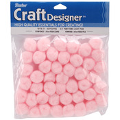 "Light Pink - Pom-Poms .75"" 45/Pkg"