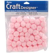 "Light Pink - Pom-Poms .75"" 45/Pkg"
