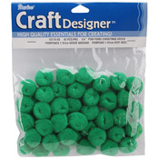 "Kelly Green - Pom-Poms .75"" 45/Pkg"