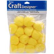 "Yellow - Pom-Poms 1.5"" 15/Pkg"