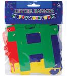 "Happy Birthday - Banner 4.25""X5'"