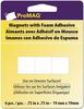 ".75"" 6/Pkg - ProMag Square Magnets W/Foam Adhesive"