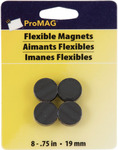 "ProMag Flexible Round Magnets .75"" 8/Pkg"