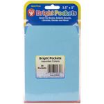 "Assorted Colors - Mighty Bright Pockets 3.5""X5"" 30/Pkg"