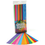 "Assorted Colors - Mighty Bright Chain Strips 1""X8"" 180/Pkg"