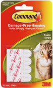 White 16/Pkg - Command Small Poster Strips