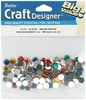 Multi - Rhinestones Round 7mm 150/Pkg DARICE-Craft Designer Big Value: Rhinestones.  Create beautiful and dramatic effects with these colored crystal rhinestones on garments, totes, toys, home decor and more.  Attach these rhinestones with fabric glue, hot glue or craft glue.  This package contains 150 7mm round rhinestones.  Available in clear and multi-colored packages: each sold separately.  Imported.