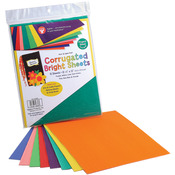 "Brights - Corrugated Sheets 8.5""X77"" 8/Pkg"