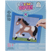 "6""X6"" Stitched In Yarn - Horse Learn To Sew Needlepoint Kit"