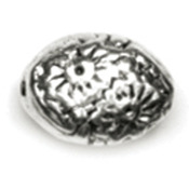 9mm Oval Bead 18/Pkg - Precious Accents Silver Plated Metal Beads & Findings