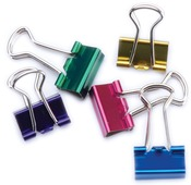 "Assorted Colors - Mini Binder Clips .5"" 12/Pkg"