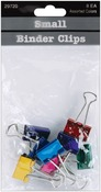 "Assorted Colors - Small Binder Clips .75"" 8/Pkg"