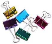 "Assorted Colors - Medium Binder Clips 1"" 5/Pkg"