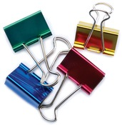 "Assorted Colors - Large Binder Clips 1.25"" 4/Pkg"