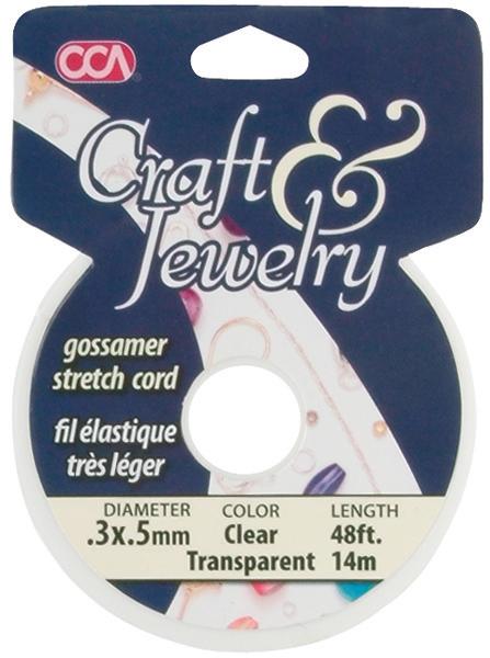 Clear - Craft & Jewelry Gossamer Stretch Cord .5mm 48 Feet/Pkg