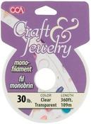 Clear - Craft & Jewelry Monofilament Cord #30 300 Feet/Pkg